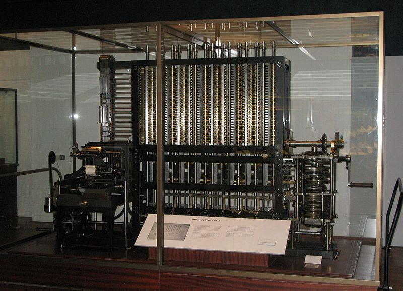 1822 – Babbage designs a mechanical computer